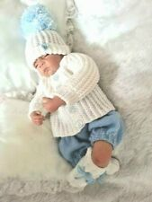 KNITTING PATTERN TO MAKE FOR BABY/REBORN BOY 0-3 MONTHS (Jack Horner)