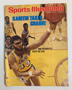 Sports Illustrated Kareem Abdul Jabbar LA Lakers 1977 Cover Only 2/14/77 SI