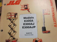 JLG E300A E300AJ E300AJP Boom Lift Parts Manual Year 2000