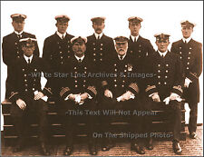 Photo - SEPIA Print: Captain Smith & Senior Officers: RMS Titanic, 1912