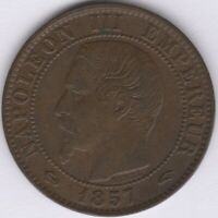 1857 A France Napoleon III 5 Centimes | European Coins | Pennies2Pounds