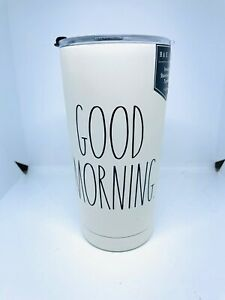 RAE DUNN 500ML STAINLESS STEEL INSULATED GOOD MORNING TUMBLER MUG THERMOS CUP