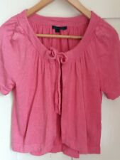 BODEN PINK SILK/LINEN CARDIGAN SIZE 14 GREAT COND