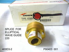ANDREW ANTENNA TYPE 1220DZ SPLICE FOR ELLIPTICAL WAVE GUIDE 220 NEW