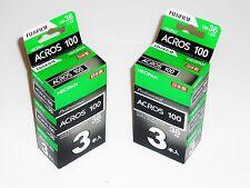 6 x FUJI  NEOPAN  ACROS 100  B&W  NEG-35mm/36 exps--ULTRA FRESH--expiry: 06/2018