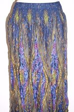 Skirt long peacock hippy Rayon Ladies women's beach casual hippie Multi Bono 12