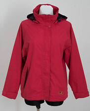 WOMENS ARCTIC STORM THIN JACKET PARKA HOODED MESH LINING RED SIZE S SMALL EXC