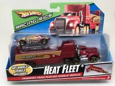 HOT WHEELS-RACING RIGS-HEAT FLEET-TRANSPORT TRUCK & CAR-SEALED-2008