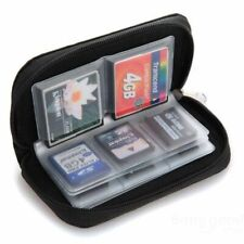 22-Slot Memory Card Case SD SIM CF Card Holder Carrying Bag for Micro SDHC Black
