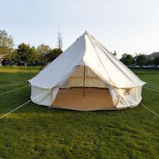 4M 5M Bell Tent Oxford Glamping Waterproof Yurt Safari Camping Teepee Tipi Tent