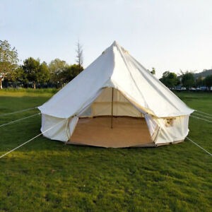 4M 5M Oxford Bell Tent Glamping Waterproof Yurt Safari Camping Teepee Tipi Tent