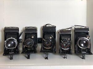 Voltlanger Bessa 6x9 Folding Cameras Lot Of 5 - Not Tested.
