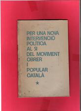 plaquette politique clandestine Catalogne 1977