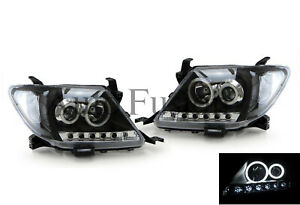 Headlight Set In Black For Toyota Hilux TGN/KUN/GGN (2005-2011)