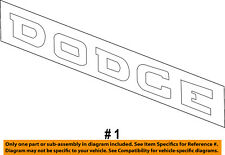 Dodge CHRYSLER OEM 02-04 Ram 1500 Bed / Fender-Emblem Badge Nameplate 55077300AA