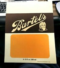 Vintage Bartels Beer The Professor Point Of Sale Advertising Sign Lion W/B Pa