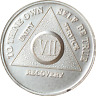 7 Year .999 Fine Silver AA Alcoholics Anonymous Medallion Chip Coin VII Seven
