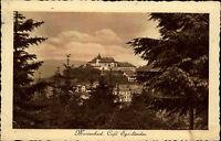 Marienbad Mariánské Lázně Tschechien s/w AK 1928 Blick auf das Café Egerländer