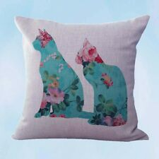 US Seller- shabby chic retro love cats couple cushion cover pillowcase sizes
