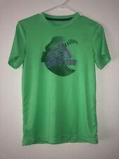 Adidas Boys Shirt 10/12 Polyester Green