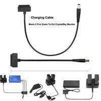 For DJI MAVIC 2 To CrystalSky Monitor 5.5/7.85inAdapter Charger Charging Cable