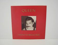 Queen, I Want To Break Free, Rare Freddie Gold Writing Vinyl Single Record Ex