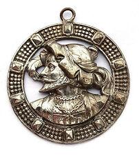 Bijoux Pendentif ancien. Personnage médiéval. France, XIX-XX°s