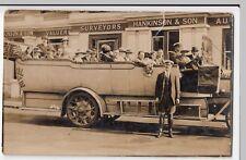 Bournemouth; Royal Blue Charabanc With Crew & Passengers RP PPC, 1918 PMK