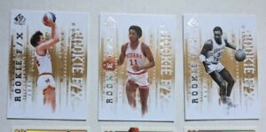 2012-13 UD SP Authentic Rookie F/X (6) Lot: Malone, Thomas, Hornacek, Marshall