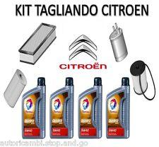 KIT TAGLIANDO CITROEN C5 2.0 HDI DA 2000 A 2004=4 LITRI OLIO ORIG 5W40+4 FILTRI