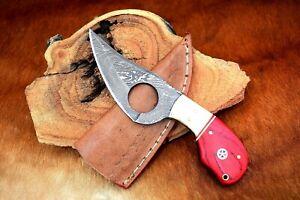 MH KNIVES CUSTOM HANDMADE DAMASCUS STEEL FULL TANG HUNTING/SKINNER KNIFE MH-401M