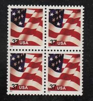 2003 FLAG 37c Sc 3629F block of 4 MNH low printing!