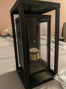 "Trans Globe Lighting 50222 One Light Wall Lantern 15.5"" Rubbed Oil Bronze"