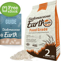 2 LBS Diatomaceous Earth - 100% Organic Food Grade Diamateous Earth Powder