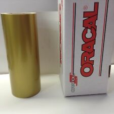 "Oracal 651, 1 Roll 12"" x 10 ft.Gold #091 Vinyl for Craft,Sign,Cutter"