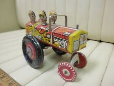 "1940s MARX ""Queen of the Campus"" Tin Lithographed Wind Up Car"