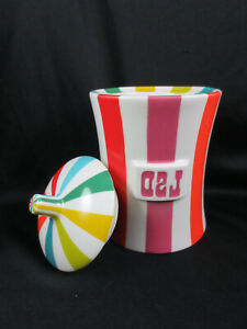 Jonathan Adler Vice LSD Porcelain Canister Apothocary Drug Cookie Jar