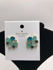 $48 KATE SPADE NEW YORK TURQUOISE CRYSTAL CLUSTER EARRINGS 60D