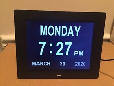 HURRAH Extra Large Memory Loss Digital Calendar Day Clock - Black