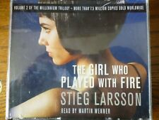 6 CD AUDIO BOOK - THE GIRL WHO PLAYED WITH FIRE - Stieg Larsson