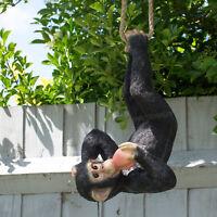 Hanging Monkey Ornament Chimp Statue Garden Decoration Outdoor Scuplture Gift