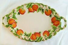 TEMP-TATIONS~Figural Fruit~PEACH~Oval Serving Platter Plate~NEW WITH TAG!!