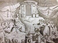 Fête de la Raison 1793 Philosophie Révolution Française Marianne Rare Gravure