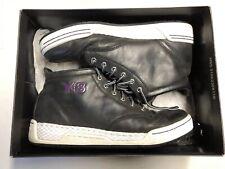d12a4a55720cf Y3 Men s Hayworth Mid Black Purple White Shoes Y-3 Sneakers Sz 8.5