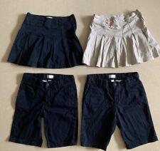 Lot Of 4 Girls Uniform Skirt Skorts Shorts Size 8 Navy, Tan
