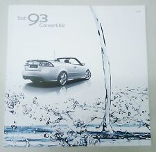 SAAB 2009 9-3 CONVERTIBLE DEALER BROCHURE OEM # 32015100