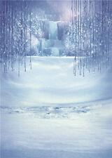 Winter Vinyl Photo Background Studio Prop Tree Child Photography Backdrops 5x7ft