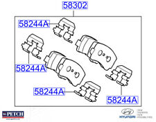 Genuine Hyundai i40 2015- Rear Disc Brake Pad Kit - 583023ZA16