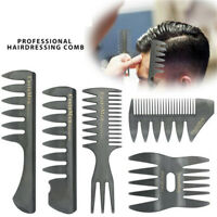 Styling Durable Hairdressing  Tool Hair Brush Barber Shop Fork Comb Wide Teeth