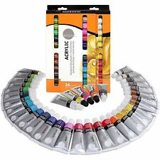 (36 Tubes) Daler Rowney Simply Acrylic Waterproof Paint Set ~ Ins + Track # Incl